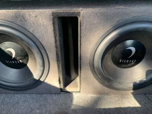 Two 12 inch diamond subs with ported box for Sale in St. Petersburg, FL