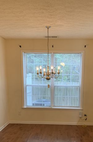 Candlelight/candle light chandelier with 6 dimmable bulbs. Zero defects. for Sale in Atlanta, GA
