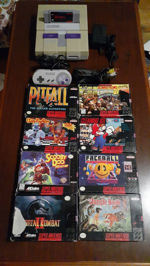 Super Nintendo and games for Sale in Laurel, MD