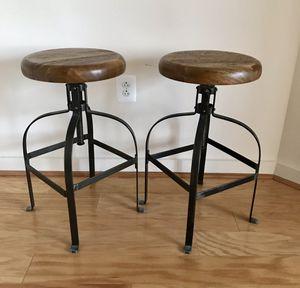 STOOLS- Two World Market swivel stools! ($100 for both stools!) for Sale in Alexandria, VA