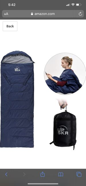 UPSKR Sleeping Bag Lightweight & Waterproof for Adults & Kids Cold Weather, 4 Season Rectangular Sleeping Bags Great for Indoor & Outdoor Use Hiking for Sale in Leawood, KS