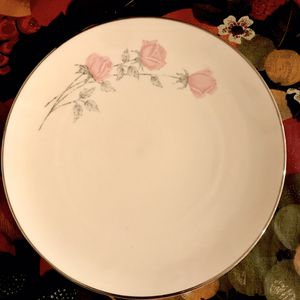 Vintage Aristo Craft China By Westbend CHAMPAGNE ROSE Lunch Plates (8-inch) - 6 piece for Sale in Tampa, FL