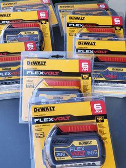 DeWALT 20V/ 60V MAX FLEX 6.0AH BATTERIES $95 EACH for Sale in Los Angeles,  CA