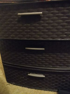 3 sets of brown plastic drawers for Sale in Reedley, CA