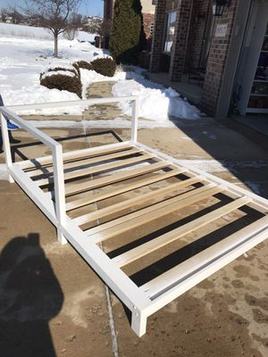 Custom made full size bed frame. Very sturdy from smoke free home. for Sale in Mokena, IL