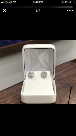real quality diamond earrings for Sale in Desert Hot Springs, CA