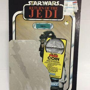 NIKTO 77 BACK Kenner VINTAGE CARDBACK STAR WARS Action Figure card toy Jabba for Sale in Los Angeles, CA