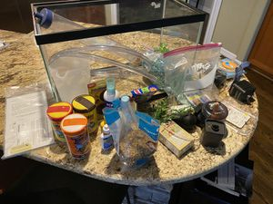 Aquarium with lot of extras for Sale in West Linn, OR