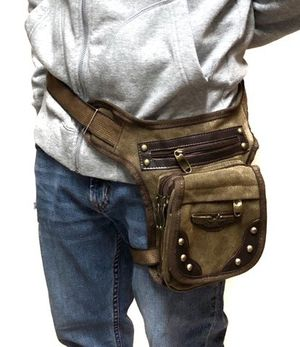 NEW! Canvas Brown Waist/Hip/Thigh/Leg Holster/Pouch For Traveling/Outdoors/Hiking/Biking/Camping/Father's Day Gift $13 for Sale in Carson, CA