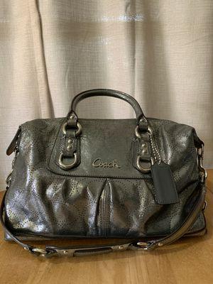 Metallic Silver Coach Handbag for Sale in North Miami, FL