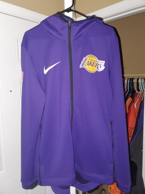 NIKE LARGE DRY FIT LAKERS WARM UP JACKET $70 for Sale in Las Vegas, NV