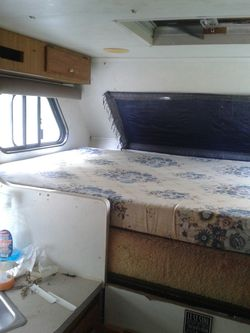 "RV matrace full size 52"" foam type 4""high came from a camper would also fit class C motorhome top bed or? Still good condition for Sale in Bellflower,  CA"