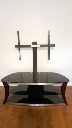 TV Stand with mount (glass shelves) for Sale in San Diego, CA