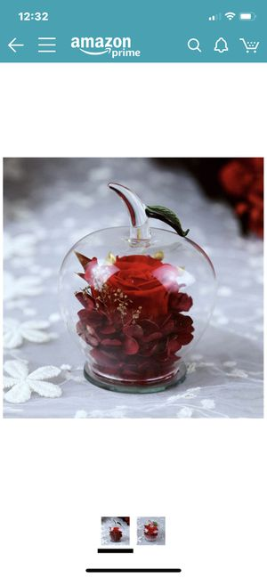 Never Withered Flower Handmade Preserved Flowers Rose Decor With Apple-shaped Glass Best Gift For Valentine's Day Mother's Day Birthday Thanksgiving for Sale in Rockville, MD