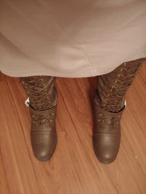 Chocolate combat boots. for Sale in St. Louis, MO