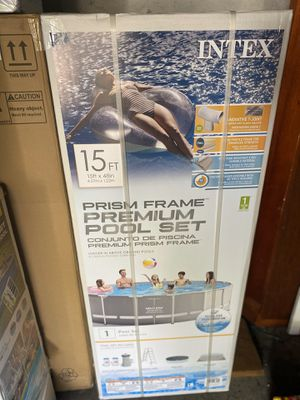 Intex Prism Frame Premium Pool Set 15Ft for Sale in Brockton, MA