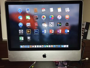 24 inch Apple iMac 320gb intel core duo with lots of programs for Sale in Chino Hills, CA