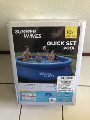 Summer Waves 10ft x 30in Quick Set Pool with Pump & Filter for Sale in Garland, TX