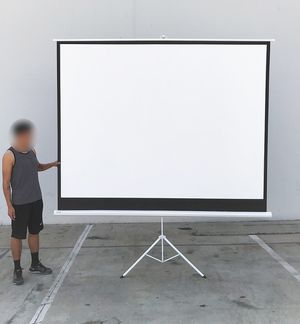 """New $65 Tripod 120"""" 4:3 Projector Screen Theater Office Pull Down Projection for Sale in South El Monte, CA"""