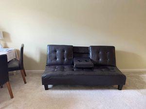 Faux Leather Couch/ Futon for Sale in Atlanta, GA