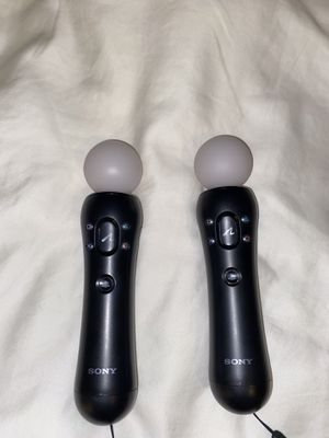 Two PlayStation move motion controllers for PS4 VR virtual reality for Sale in Los Angeles, CA