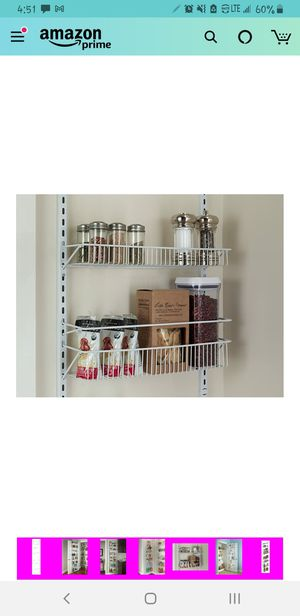 Closetmaid, door/wall shelving rack. Multi use. for Sale in Lacey, WA