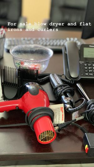 For sale blow dryer flat irons and curlers for Sale in Jonesboro, GA