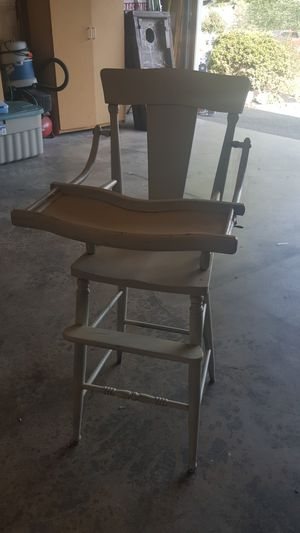 Antique wooden high chair for Sale in Auburn, WA