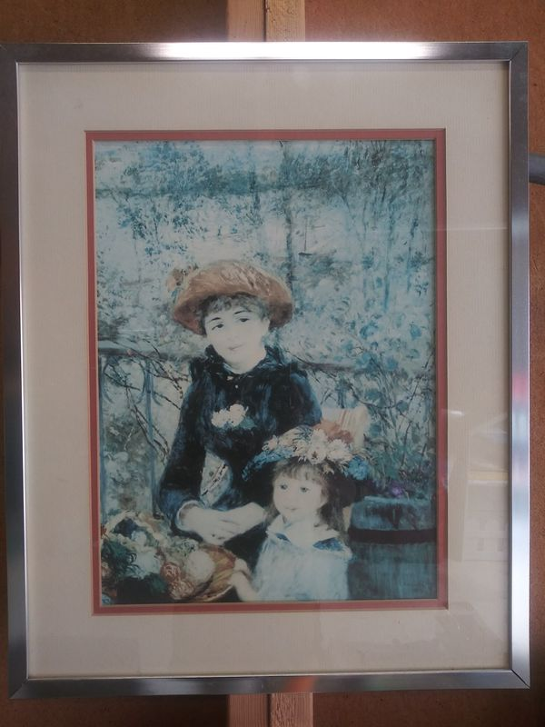 Nice framed print of Mom and daughter