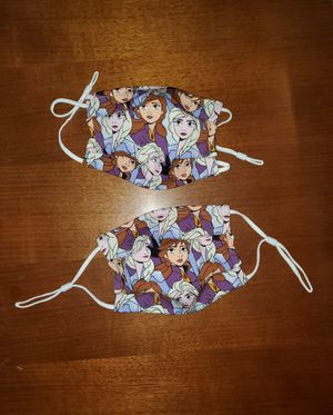 FROZEN ELSA ANNA SVEN OLAF FACE MASKS Double Layered Washable Cotton with Pocket for Removable Filter and Adjustable Elastic for Sale in Bessemer, AL