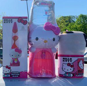 Bundle hello kitty $45 Lava lamp Water jug dispenser Fleece throw blanket for Sale in Columbia, MD