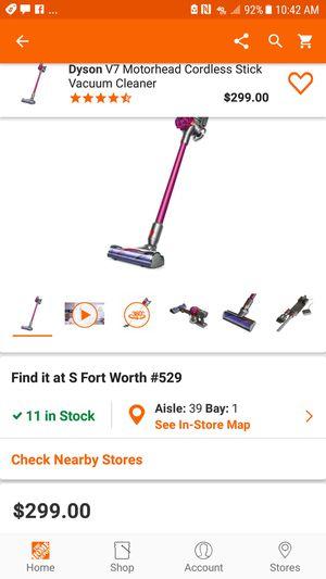Dyson V7 Motorhead cordless vacuum for Sale in North Richland Hills, TX