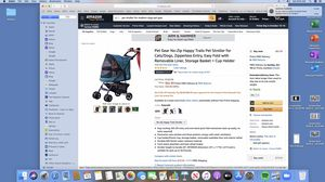 Pet stroller and cushion for Sale in Corona, CA
