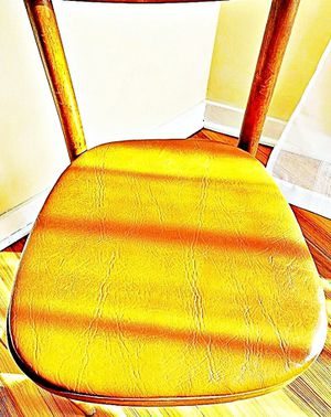 Wooden Shelby Williams Industries MCM chairs (4) with leather seat cushion. for Sale in East Rutherford, NJ