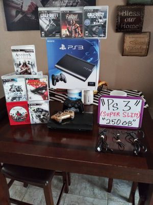 Ps3 super slim 250gb for Sale in San Diego, CA
