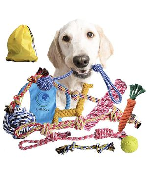 EylbKey Dog Rope Toys for Aggressive Chewers by EylbKey Puppy Chew Dog Toys Set Durable Dog Toys for Puppy Small Medium Dogs - 12 Pack for Sale in Orange, CA