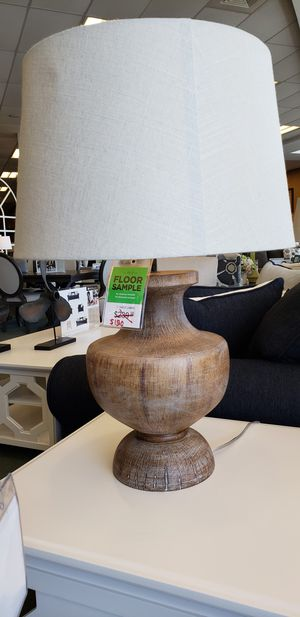A set of 2 authentic wooden lamps for Sale in Philadelphia, PA