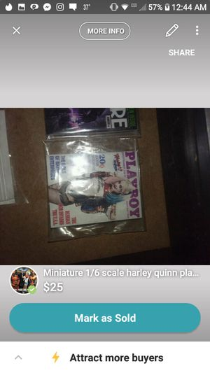 Miniature Harley Quinn playboy magazine for action figures for Sale in Tullahoma, TN