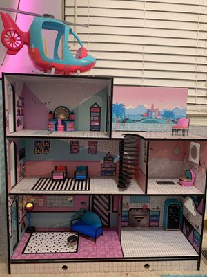 LOL Surprise House and Barbie Helicopter for Sale in Brentwood, TN