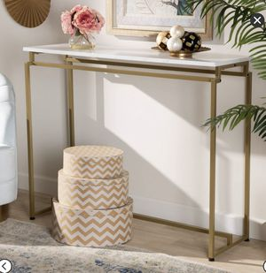 Tall Renzo Console Table with Faux Marble Tabletop for Sale in Winchester, CA