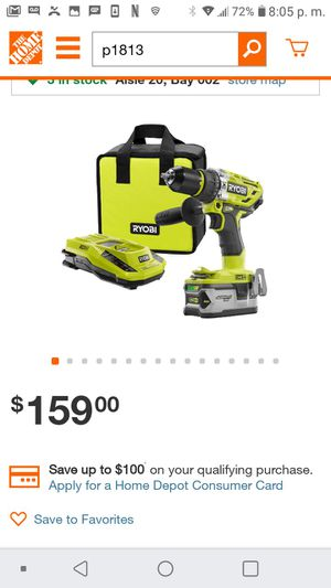 Ryobi 18v brushless hammer kit for Sale in Manteca, CA