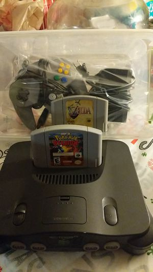 Nintendo 64 w/ 2 games for Sale in Chandler, AZ