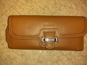 Brown genuine Coach leather wallet for Sale in Pittsburgh, PA