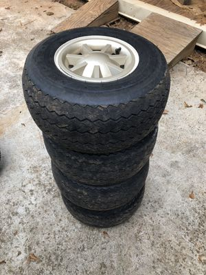 4 nice standard Golf Cart Wheels and Tires for Sale in Fairburn, GA