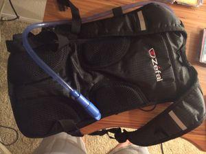 Black zefal hydrating backpack for Sale in Las Vegas, NV
