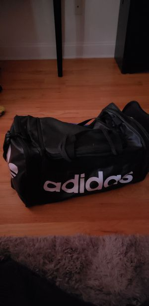 ADDIDAS: Black Leather Duffle Bag for Sale in MIDDLE CITY WEST, PA