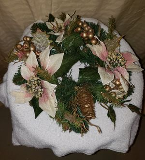 Poinsettia Candle Ring - White for Sale in Lansing, MI
