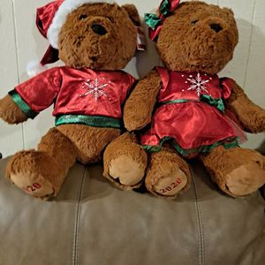 "2020 WAL-MART CHRISTMAS Snowflake TEDDY BEAR Brown BOY & GIR 20"" Red Outfit Brand NEW for Sale in Grand Prairie, TX"