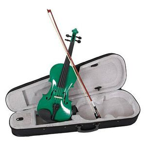 Brand New Green Violin Full Size 4/4 W/ Case+Bow+Rosin for Sale in Columbia, MD