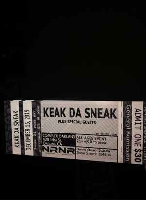 Keak Da Sneak Concert Tickets for Sale in Pittsburg, CA